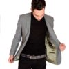 Men's anthracite tweed jacket