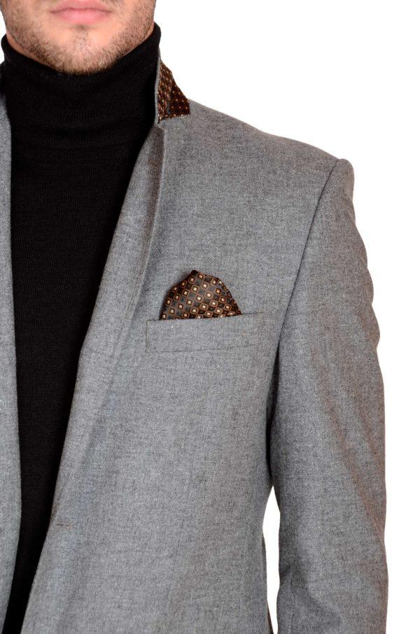 Men's anthracite tweed jacket