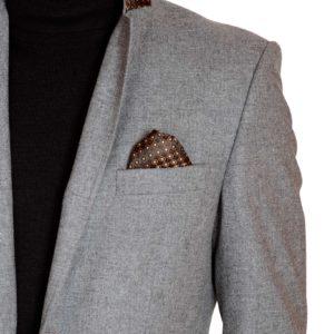 Giacca da uomo in tweed antracite